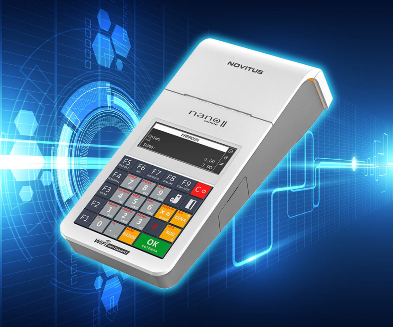 Novitus Nano II Online - mobilna kasa rejestrująca